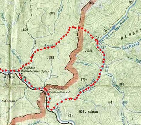 Обзорная карта основной части